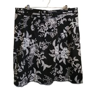Beecher and Brook A-Line Bold Black & White Skirt